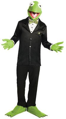 Karneval Muppet Show Frosch Kermit Kostüm Set Maske Handschuhe Stulpen (Kermit Frosch Kostüme)