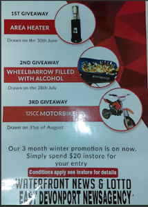 Winter promotion shop now to win. Devonport Devonport Area Preview