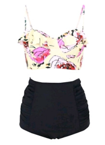 NEW High waisted Swimsuit size 10-12