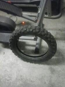 Selling front n rear tire for 80 cc dirtbike