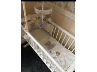 Brand new swinging crib bedding mattress included