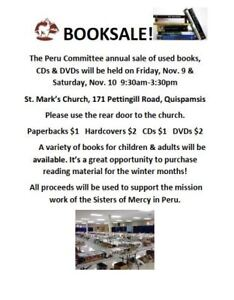 Used Book Sale at St. Mark's Church, Quispamsis