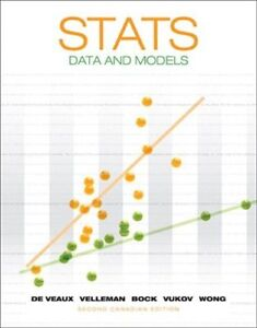 Stats Data and Models Second Canadian Edition