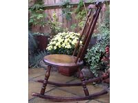 Chairs. Vintage Wood Furniture. Spindle Back. Rocking Chair