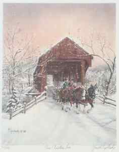 """Gerald Topolinsky """"Our Christmas Tree""""  Framed Signed 77/490 London Ontario image 2"""