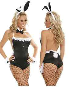 Sexy Playboy Easter Bunny Adult Party Women Costume