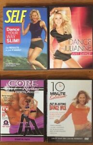 DANCE EXERCISE DVDs 4 for $10