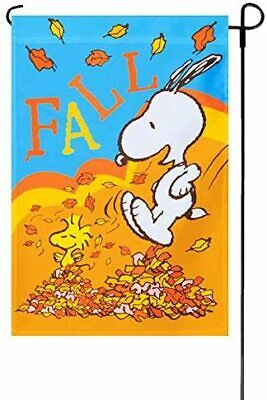 Peanuts Snoopy Fall Is The Nicest Weather Outdoor Garden Flag & Yard Banner