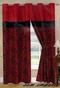 Red Black Curtains