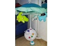 Lovely musical cot projector mobile, Mint condition
