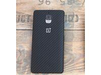 OnePlus 3 3T Original Genuine Case Carbon