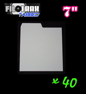 40-7-RECORD-DIVIDERS-White-Pastic-Tab-Index-Cards-for-45rpm-singles-collectIon