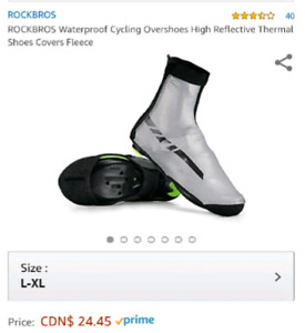 Size 8-9 Waterproof reflective cycling shoe cover NEW