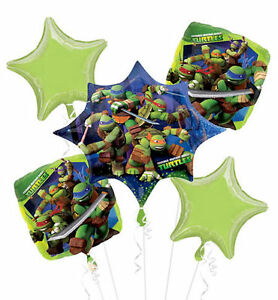 TMNT BALLOON BOUQUET WITH HELIUM BARGAIN PRICES FREE DELIVERY
