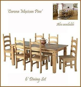 Pine Dining Table And 6 Chairs