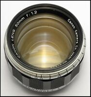 Canon 50mm 1.2 Ltm with coded flange for LEICA