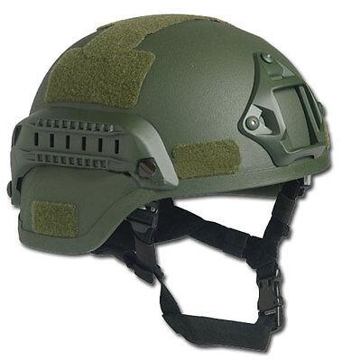 US Gefechtshelm MICH 2000 W/Rail oliv, Helm, Einsatzhelm           -NEU-