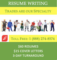 Professionally Resume Writing - for only $60.