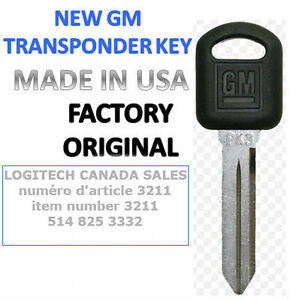 1 New Replacement Ignition Car Key with PK3 Transponder Chip