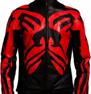 Star Wars Darth Maul Leather Motorcycle Jacket WITH Bodyarmor