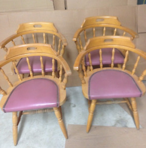 Padded wooden Commercial/Restaurant grade chairs