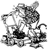 lawn mower, grass trimmer and leaf blower repair and tune up