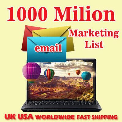 1000 Million Email Marketing List New Active Uk Usa Free Shipping