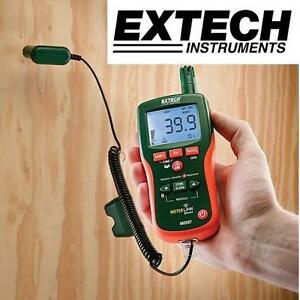 NEW EXTECH MOISTURE PSYCHROMETER - 122477085 - PINLESS MOISTURE PSYCHROMETER BLUETOOTH METERLINK IR INFRARED THERMOMETER