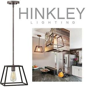 NEW HINKLEY MINI PENDANT FIXTURE - 112529924 - 1 LIGHT AGED ZINC FINISH