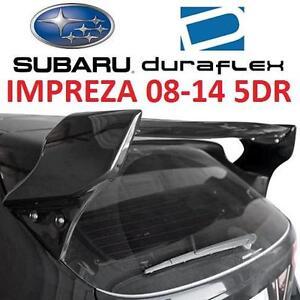 NEW* DURAFLEX SUBARU REAR SPOILER - 115333146 - UNPAINTED SUBARU IMPREZA 08-14 WRX STI 5DR REAR WING -