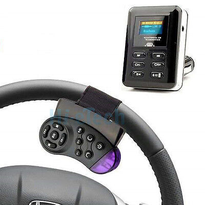 New Bluetooth Player Car FM Transmitter Extend MP3 Steering Wheel USB SD MMC USA on Rummage