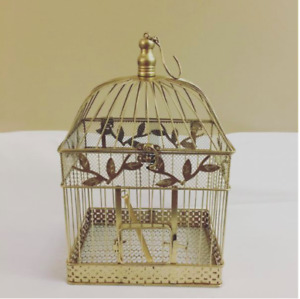 Wedding Decor⎜Vintage Antique⎜Nora Gold Bird Cage