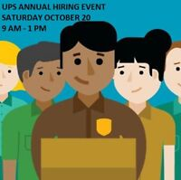 UPS Calgary Annual Hiring Event! Saturday, Oct  20: 9 AM- 1 PM!