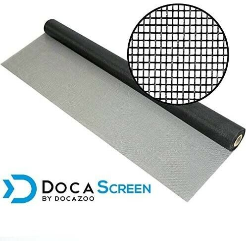 DocaScreen Window NEW Screen Replacement for (1) Sliding Door - Char/Black 36x78