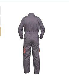Grey work wear Men's Overalls, mechanics boiler suit
