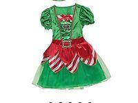 Girls elf costume age 9-10