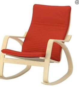 FREE Ikea POANG Rocking Chair - Red Cover
