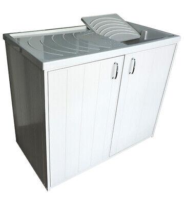 Mobile coprilavatrice e lavatoio lavapanni cm.108x60xh91, per interno o esterno