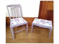 Beautiful French Cottage Wooden Bedroom Dressing Table Stool Chair - Free Delivery