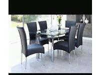 Harveys BOAT range dining table and 6 chairs