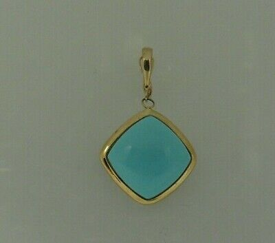 Reconstituted Turquoise Pendant 14k Yellow Gold ()