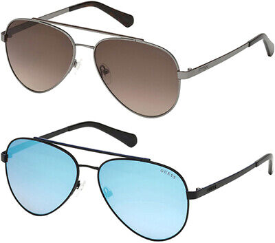 Guess Men's Classic Teardrop Aviator Sunglasses - (Teardrop Aviator Sunglasses)