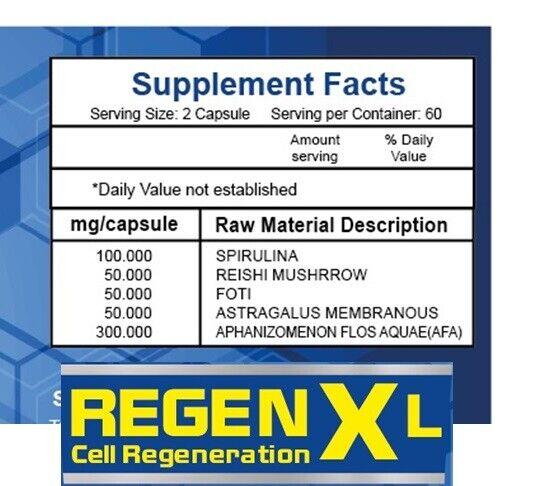 4 Maxregen Diabetic Regenxl Muscle Strength Energy Gluten Free Supplement Pills  3