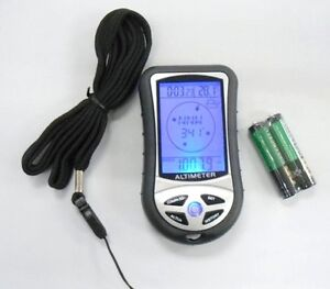 DIGITAL ALTIMETER - 8 IN 1 - COMPASS THERMOMETER BAROMETER - CAMPING HIKING