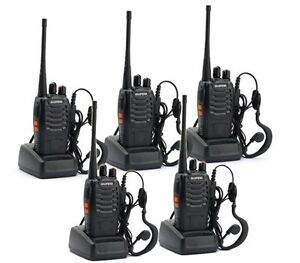 5x Ham Radio Walkie Talkie Portable two way radios Long Range Security Patrol