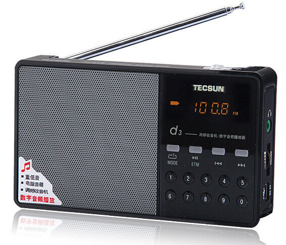 Радиоприёмник New Tecsun D3 Portable Rechargeable FM на eBay