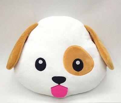 Dog Puppy Emoji Pillow Smiley Emoticon Cushion Stuffed Colorful... Free Shipping