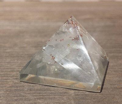 Small  25 30Mm  Selenite Orgone Gemstone Pyramid Orgonite