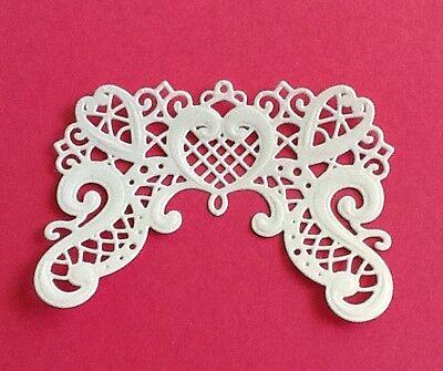 4 Heartfelt creations die cuts, Handmade, Embossed