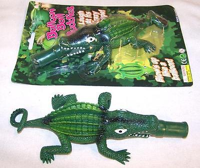GIANT SIZE INFLATEABLE BLOW UP ALLIGATOR balloon novelty toy reptile crocodile ()